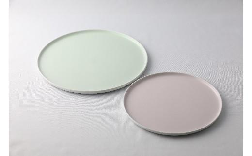 【有田焼 1616/arita japan】フラット プレート (green×2・pink×2) 4枚セット