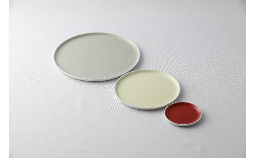 【有田焼 1616/arita japan】フラット プレート (gray×2・yellow×2・red×2) 6枚セット