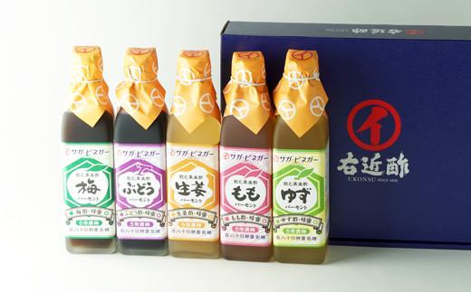 飲む濃厚果実酢300㎖5本セット(梅、ぶどう、しょうが、ゆず、桃)