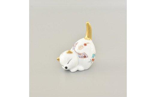 【伊万里焼/畑萬陶苑】猫リング掛け置物